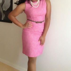 Pink Tweed Calvin Klein Sheath Dress✨